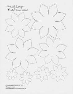 Mel Stampz: Resized Mirkwood Flower Templates