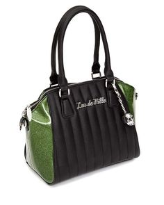 Lux de Ville Lady Vamp Tote Matte Black with Purple Moon VERY Limited Edition