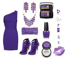 Purple by ana-spatacean on Polyvore featuring Dsquared2, Giuseppe Zanotti, Boutique Moschino, Alexa Starr, Lancôme, Manic Panic and OPI