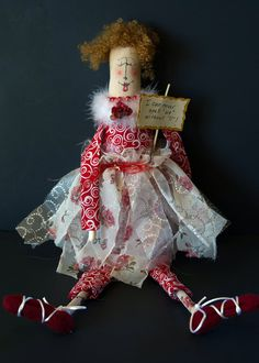 "Personalized Whimsical Valentine's Day Doll ""I Can Never Spell ""US"" Without ""U""! by Rags2Wishes on Etsy"