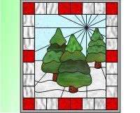 Christmas: Easy stained glass trees - Click Image to Close Stained Glass Christmas, Stained Glass Crafts, Stained Glass Patterns, All Things Christmas, Christmas Holidays, Christmas Decorations, Winter Trees, Christmas Trees, Glass Artwork