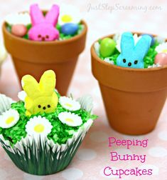 Peeping Bunny Cupcakes: Fun With PEEPS and Wilton