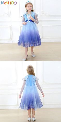 Toddler Girls Frozen Elsa Blue Princess Dress Girl Tutu, Tutus For Girls, Elsa Frozen, Toddler Girls, Cute Dresses, Designer Dresses, Tulle, Princess, Skirts