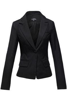 One Button Pocket Black Blazer | CozBest:lastest womens fashion clothing,shoes,dresses shop online