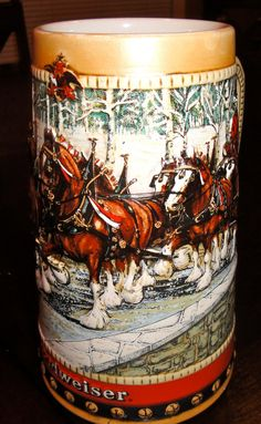$19.50    Vintage Budweiser Collectible Stein Clydesdale 1988 Mug    http://www.etsy.com/listing/86001487/vintage-budweiser-collectible-stein