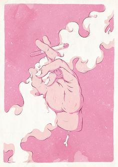 """First Hand Smoke"" Art Print"