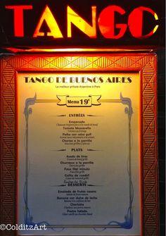 Items similar to Tango. Photographer: Jennifer Colditz on Etsy Original Travel, Tomate Mozzarella, Life Is An Adventure, Tango, Bon Appetit, Paris France, Parisian, Menu, Neon Signs