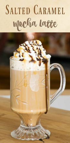 Salted Caramel Mocha Latte - make your own specialty coffee shop favorite right at home, no special equpment needed!