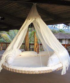 Floating bed