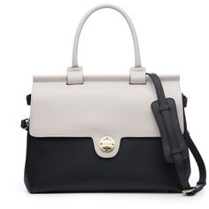 Shop JEMMA for the Emma - Black & Vanilla Structured Leather Designer Work Bag For Women. Tailored to provide the functionality every working woman needs. Buy Now!