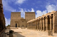 Philae Goddess Isis and god Mandulis Temple in Aswan Egypt