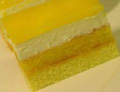 Fotorecept: Jarné sanquickové rezy - vhodný na slávnostne príležitosti Lebanese Recipes, Russian Recipes, Food Design, Kiwi, Baked Goods, Mousse, Jelly, Cheesecake, Deserts