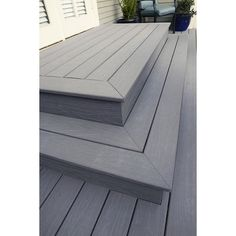 Shop ChoiceDek Foundations Beach House Gray Composite Deck Board (Actual: 1-in x 5.4-in x 8-ft) at Lowes.com
