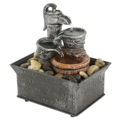TRANQUILITY WATER PUMP FOUNTAIN Add The Soothing Sound Of Cascading Water  To Any Room Of Your