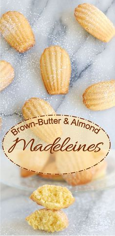 Brown Butter Almond Madeleines are so easy to make…