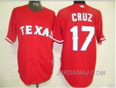 http://www.jordanaj.com/mlb-jerseys-texas-rangers-17-cruz-red.html MLB JERSEYS TEXAS RANGERS #17 CRUZ RED Only $19.00 , Free Shipping!