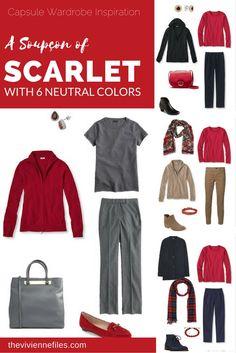 Capsule Wardrobe Color Palette - A Soupçon of Scarlet, with Six Neutrals | The Vivienne Files