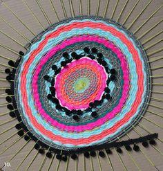 Como hacer una alfombra tejida circular | Todo Manualidades