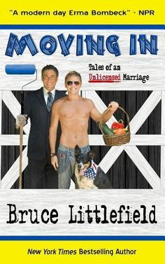 """2013 LN Medalist - """"At a time when marriage equality has become a political and social hot topic, MOVING IN: Tales of an Unlicensed Marriage is an expose on relationships and renovation. The story shows that, no matter same or opposite gender, there's one in every couple who likes to make things look pretty and one who'll walk across a newly cleaned kitchen floor in muddy shoes to see the results."""""""
