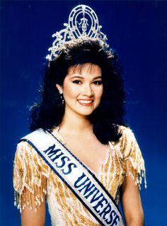 Miss Universo 1988. Porntip Nakhirunkanok, Miss Tailandia. MISS UNIVERSE ORGANIZATION/CORTESÍA