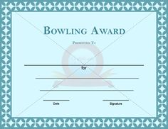 Bowling award template certificate template pinterest template choose from hundreds of free printable certificate templates bowling award template yadclub Choice Image