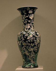 Vase with Plum Blossoms and Birds, Qing dynasty (1644–1911). late 19th century. China. The Metropolitan Museum of Art, New York. Bequest of Benjamin Altman, 1913 (14.40.399) #spring