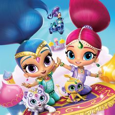 If your child loves the genies-in-training Nickelodeon show, the Trends International Shimmer and Shine - Key Art Wall Poster - x in. Shimmer And Shine Costume, Shimmer And Shine Cake, 4th Birthday, Birthday Parties, Birthday Cakes, My Busy Books, Nick Jr, Keys Art, Edible Cake Toppers