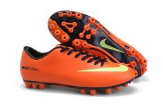 Nike Mercurial Vapor IX AG Cheap Soccer Cleats Orange Yellow Black