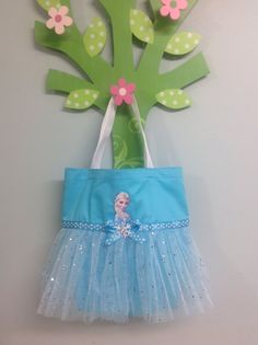 LARGE Princess Elsa Tutu Tote Bag por LollipopLaneBoutique en Etsy