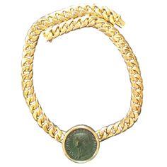 Ancient coin gold necklace by Bulgari #TuscanyAgriturismoGiratola