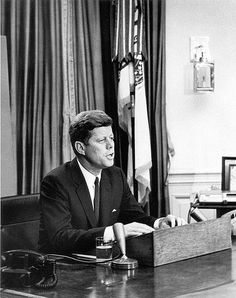 President Kennedy led the nation through one of it's darkest hours: the Cuban Missile Crisis. In October of 1962, US intelligence determined that the USSR had placed nuclear weapons in Cuba. Kennedy's calm head helped us avoid a nuclear disaster.