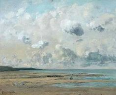 """Gustave Courbet (1819-1877)  """"Rives in Normandy"""" 1866"""