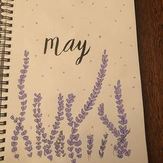 May bullet journal cover page Bullet Journal Title Page, Bullet Journal Titles, Bullet Journal Spread, Journal Covers, Cover Pages, Wisteria, Bujo, My Love, Pretty