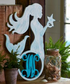 MADE IN USA - Unfinished Mermaid Personalized Initial