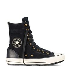 Chuck Taylor Hi-Rise Suede Boot in Black Suede Sneaker Converse 255837fbff3