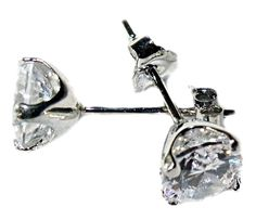 NON-TARNISH .925 STERLING SILVER 8mm CZ STUD EARRINGS, STUNNING! 4.0 CTW $25.99