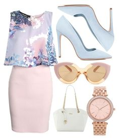 """Untitled #16"" by sarahmcmurryy on Polyvore featuring Boohoo, Furla, Michael Kors, Karen Walker and Dee Keller"