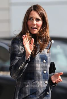 Catherine, Duchess of Cambridge arrives for her visit to the Emirates Arena on April 4, 2013 in Glasgow, Scotland.