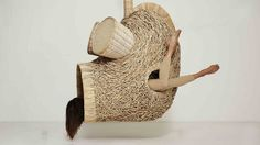 """Porky Hefer's latest creations include six """"hermit shells"""" and one jungle-gym-like """"leopard branch."""" And they're every bit intended to be inhabited."""
