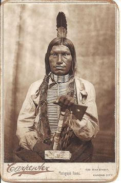 Cabinet Card of Indian with Tomahawk by ilgunmkr, via Flickr