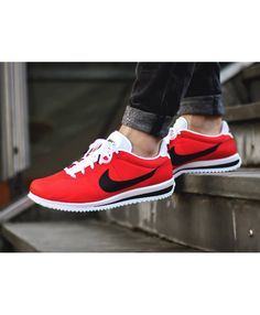 on sale 0a0da e7e08 Nike Cortez Homme Ultra Rouge Noir Chaussure Rouge Homme, Chaussure Adidas  Enfant, Chaussure Swag