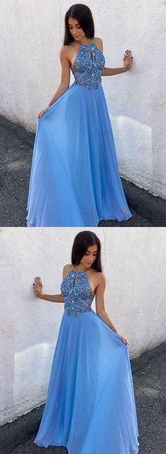 Plus Size Prom Dress, Blue chiffon beaded long prom dress, backless evening dress Shop plus-sized prom dresses for curvy figures and plus-size party dresses. Ball gowns for prom in plus sizes and short plus-sized prom dresses Blue Evening Dresses, Prom Dresses Blue, Mermaid Prom Dresses, Evening Gowns, Party Dresses, Chiffon Dresses, Evening Party, Elegant Bridesmaid Dresses, Backless Prom Dresses