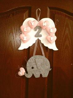 Zeynep bebek icin kapisusumuz  #kapisusu #bebekkapisusu #kecedenkapisusu #fil #elephant #felt #zeynep #babyshower