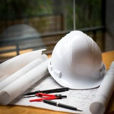 construction concept image helmet rolled blueprints on wooden boards in retro style. Estilo Retro, Ing Civil, Inmobiliaria Ideas, Civil Engineering Design, Construction Images, Architecture Concept Drawings, Architecture Student, Birthday Gifts For Grandma, Photoshop Design