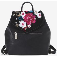 White House Black Market Floral Embroidered Backpack ($128) ❤ liked on Polyvore featuring bags, backpacks, snap bag, day pack backpack, white house black market, snap backpack and backpack bags