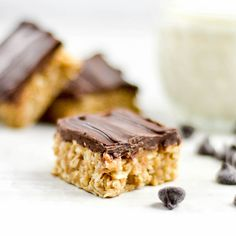 No-Bake Chocolate Peanut Butter Coconut Bars! Gluten-free, dairy-free, refined-sugar free & vegan-friendly!