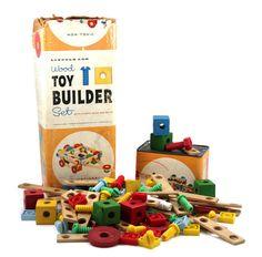 Lincoln Log Wood Toy Builder Set Vintage Playskool