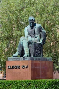 Statue of Finnish author Aleksis Kivi (born as Alexis Stenvall, Finnish Language, Scandinavian Countries, Helsinki, Famous People, Book Art, Writer, Sketches, October 10, Stock Photos