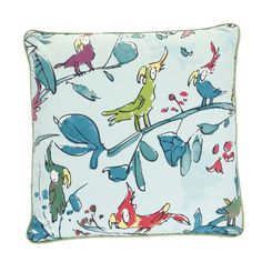 Bring a touch of Quentin Blake's illustrated magic to a child's bedroom or playroom with this Zagazoo Cockatoos cushion in blue from the Osborne & Little cushion collection. With a 100% cottonZagazo