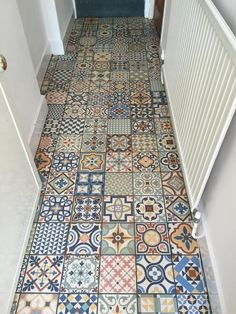 Waxman Ceramics' Rustic Heritage used to create a feature foyer for a private residential customer.